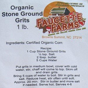 Yellow Corn Grits - Carolina grown GMO-FREE Organic Yellow Corn Grits  (1 lb)